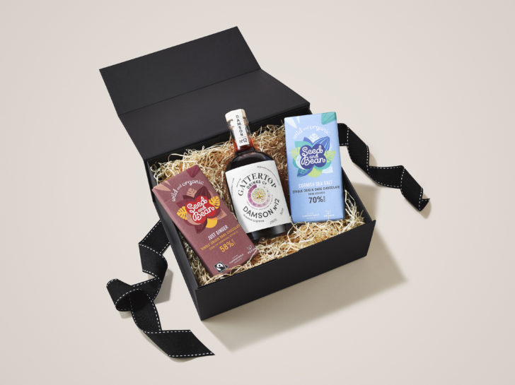 Damson 12 and Seed and Bean chocolate in the After Dinner Christmas Hamper