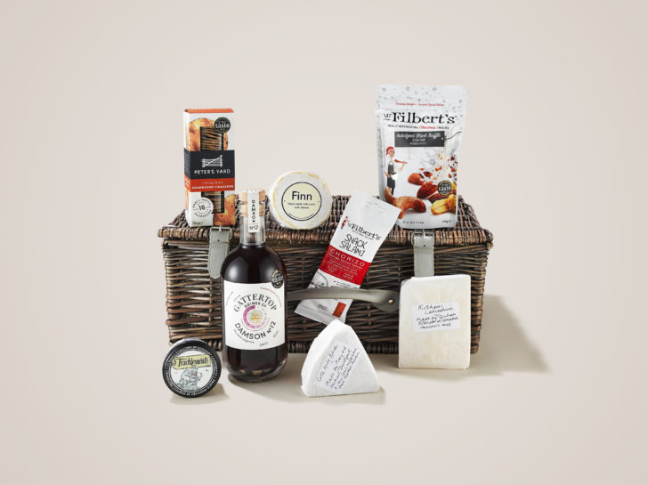 Nuts, Cheese and Damson 12 fill the Entertaining at Home Christmas Hamper
