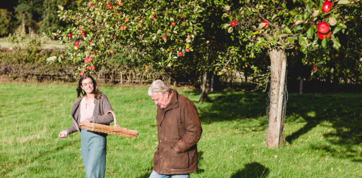 Gattertop Drinks Founder Gemma Picking Damsons in the Orchard